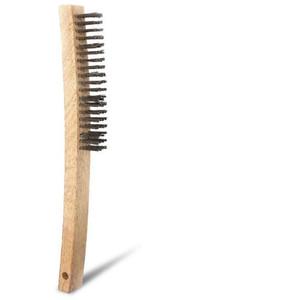 Bordo Long Wooden Handle Scratch Brush4 Row Steel - 5170-SW-4R