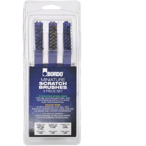 Bordo Mini 3 Piece Brush Set Brass/Nylon/Stainless Steel - 5171-S1