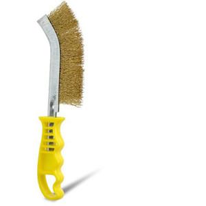 Bordo UniversalScratch Brush Plastic Handle Brass Wire - 5174-BW-Y