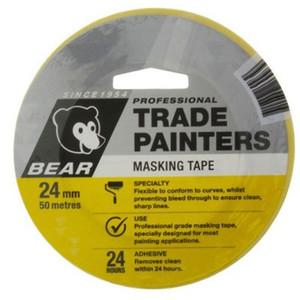 Bear 207P Painters Masking Tape 24mm x 50m - 66623336582
