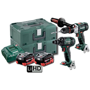 Metabo 18V Brushless 2 Piece 5.5Ah LiHD Combo Kit - SBSSW300BLMHD5.5