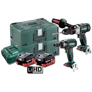 Metabo 18V Brushless 2 Piece 5.5Ah LiHD Combo Kit - SBSSW400BLMHD5.5