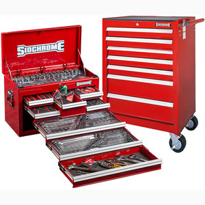 Sidchrome Red 262pce Metric/AF Tool Kit - SCMT10159R