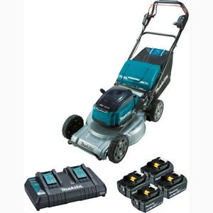 "Makita 18Vx2 Brushless Self-Propelled Lawn Mower 534MM (21"") Kit Aluminium Deck - DLM533PT4X"