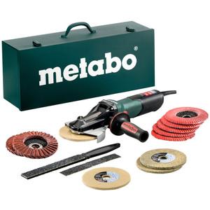 Metabo WEVF 10-125 QUICK INOX SET 125mm Flat-Head Angle Grinder 1000W - WEVF10-125QINOXSET