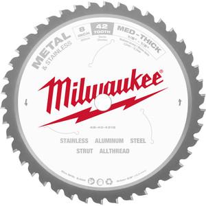 "Milwaukee 203mm (8"") 42T General Purpose Metal Blade - 48404515"