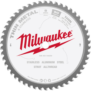 "Milwaukee 203mm (8"") 50T Thin Metal Blade - 48404520"