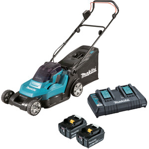"Makita 18V x 2 Lawn Mower 430mm (17"") Kit - DLM432PT2"