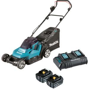 "Makita 18V x 2 Lawn Mower 430mm (17"") Kit - DLM432CT2"