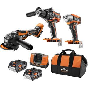 AEG 18V 5.0ah Brushless 3 Piece Combo Kit - BSB18BK3-502BB