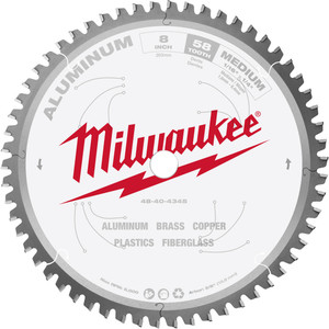 "Milwaukee 203mm (8"") 58T Aluminium Circular Saw Blade - 48404345"