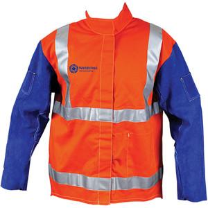 Weldclass Hi-Viz + Leather Sleeves + Harness Compatible 2XL - WC-04765