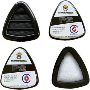 MP P2 Replacement Filters Suit MPFM-P2 Mask 4pk - MPRF-P2-4