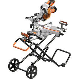 AEG 2000W 254mm Slide Mitre Saw and Mobile Stand Combo - PS254SB-MCOMBO