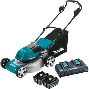 """Makita 18Vx2 Brushless Lawn Mower 460mm (18"""") Kit - DLM464PG2"""