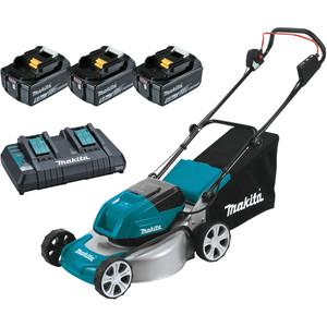 """Makita 18Vx2 Brushless Lawn Mower 460mm (18"""") Kit - DLM464PT3"""