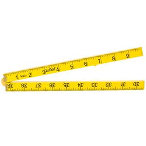 "Lufkin Folding Rule, 1M / 39"" Yellow, Square Edge - LFSME"