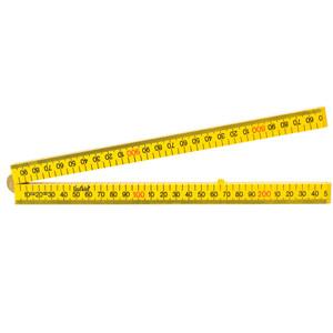 Lufkin Folding Rule, 1M Yellow, Square Edge - LFSSI