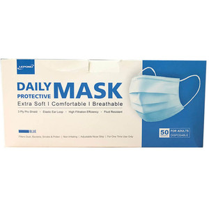 Lepono Disposable Face Masks (Not for Medical Use) 50 Pack - 808494