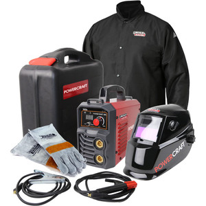 Lincoln Electric Powercraft 185 Ready Set Weld Stick Welding COMBO Package - K69059-1A