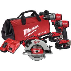 Milwaukee M18 FUEL™ 3 Piece Power Pack 3J2 - M18FPP3J2-502B