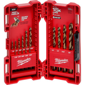 Milwaukee Red Helix ™ Cobalt Imperial Drill Bit 15Pc Kit - 48892340