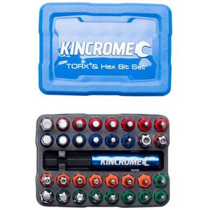 Kincrome Torx & Hex Bit & Holder Set 33Pc - 13651