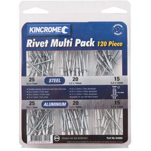 Kincrome Rivet Pack 120 Piece - K4980