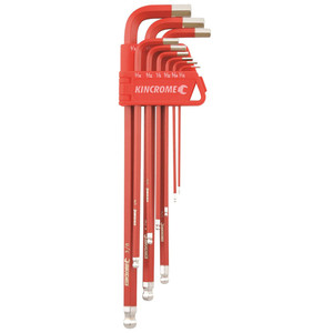 Kincrome Ball Point Hex Key Set Long Series 9pce Imperial - K5042