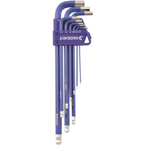 Kincrome Ball Point Hex Key Set Long Series 9pce Metric - K5043
