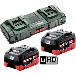 Metabo 18V 5.5Ah LiHD Duo Kit - 5.5LIHDDUOKIT