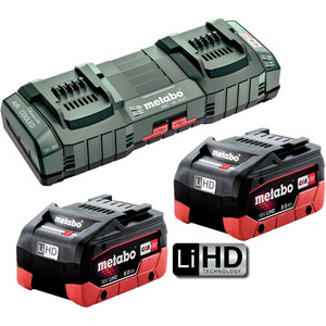 Metabo 18V 8.0Ah LiHD Duo Kit - 8.0LIHDDUOKIT