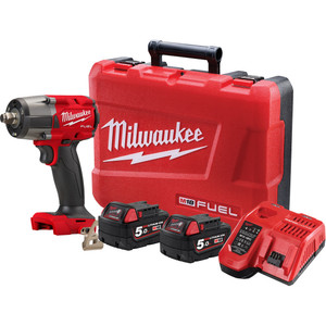 """Milwaukee M18 FUEL™ 1/2"""" Mid-Torque Impact Wrench with Friction Ring Kit - M18FMTIW2F12-502C"""