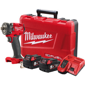 """Milwaukee M18 FUEL™ 1/2"""" Compact Impact Wrench with Friction Ring Kit - M18FIW2F12-502C"""