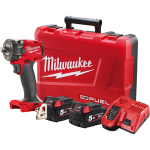 """Milwaukee M18 FUEL™ 1/2"""" Compact Impact Wrench with Pin Detent Kit - M18FIW2P12-502C"""