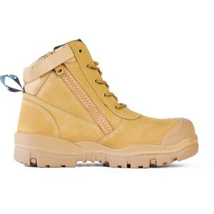 Bata Safety Boots Horizon Sole Scuff Cap Zip - Size 10 - 75683964-100
