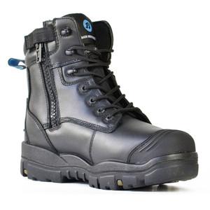 Bata Safety Boots LongreachZip Sided Composite Toe Cap-Black - Size 4 - 70566146-040