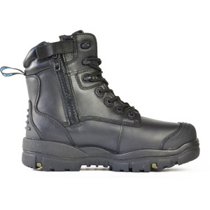 Bata Safety Boots LongreachZip Sided Composite Toe Cap-Black - Size 7.5 - 70566146-075