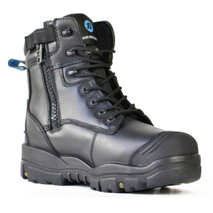 Bata Safety Boots LongreachZip Sided Composite Toe Cap-Black - Size 10 - 70566146-100