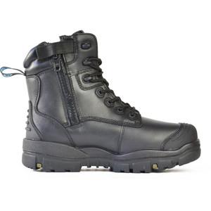 Bata Safety Boots LongreachZip Sided Composite Toe Cap-Black - Size 14 - 70566146-140