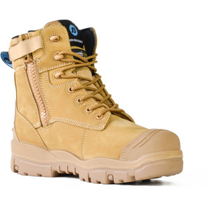 Bata Safety Boots LongreachZip Sided Composite Toe Cap-Wheat - Size 4 - 70686147-040