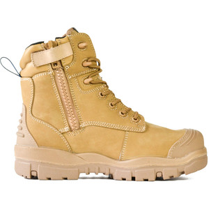 Bata Safety Boots LongreachZip Sided Composite Toe Cap-Wheat - Size 7.5 - 70686147-075