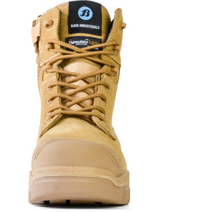 Bata Safety Boots LongreachZip Sided Composite Toe Cap-Wheat - Size 9 - 70686147-090