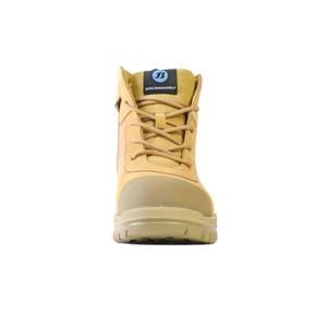 Bata Safety Boots Zippy Wheat - Mid Cut Zip Bump - Size 9 - 80488841-090
