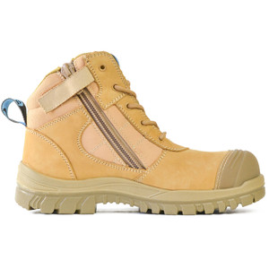 Bata Safety Boots Zippy Wheat - Mid Cut Zip Bump - Size 10.5 - 80488841-105