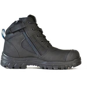 Bata Safety Boots Zippy Black - Mid Cut Zip Bump - Size 6 - 80466641-060