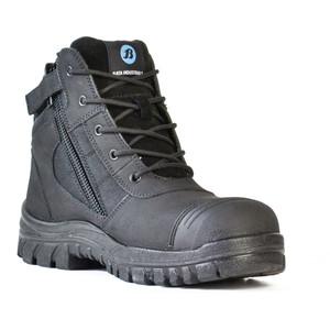 Bata Safety Boots Zippy Black - Mid Cut Zip Bump - Size 8 - 80466641-080