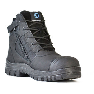 Bata Safety Boots Zippy Black - Mid Cut Zip Bump - Size 8.5 - 80466641-085