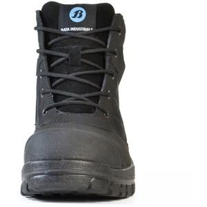 Bata Safety Boots Zippy Black - Mid Cut Zip Bump - Size 9 - 80466641-090