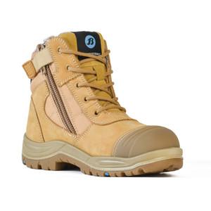 Bata Safety Boots Dakota - Wheat Zip Ladies - Size 7 - 50488017-070
